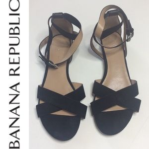 BR Hello Sole Mate suede ankle strap sandal sz 9.5